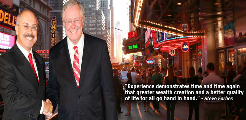 Cherif and Steve Forbes